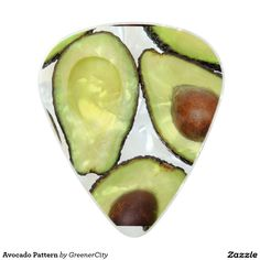 Avocado Pattern Pearl Celluloid Guitar Pick