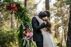 Emotions of the wedding in the forest