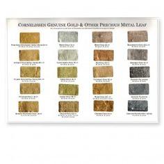 Cornelissen Gold Leaf Colour Chart Ranges 80 and 85 - Genuine Gold Leaf - Gilding & Restoration Materials
