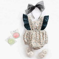 Vintage Ruffle Romper Baby Girl Boutique Clothes Newborn Floral Baby Romper Cotton Baby Bodysuit Baby Clothes Boutique - online baby clothes stores where you can find fashionable baby clothes. There is a kid and baby style here. Newborn Outfits, Toddler Outfits, Kids Outfits, Maternity Outfits, Baby Girl Jumpsuit, Baby Girl Romper, Baby Bodysuit, Baby Girls, Boy Dress