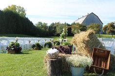 Mariage près de la vieille grange du Vignoble