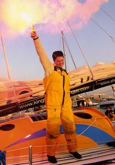 Ellen MacArthur Derbyshire-born MacArthur's unshakeable dedication to her craft began as a youngster when she saved up her school dinner money for eight long years to buy her first boat - an 8ft dinghy. In 2005, at the age of 28, she broke Francis Joyon's solo record for sailing non-stop around the world by one day, 8 hours, 35 minutes, 49 seconds. In the same year she was made Britain's youngest Dame.