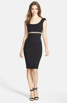 B44 Dressed by Bailey 44 'Bardot' Illusion Waist Ponte Sheath Dress available at #Nordstrom
