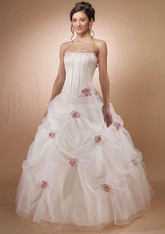 Strapless Ball Gown Pastel Pink Wedding Dress Dresses