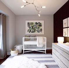 Nursery gender neutral baby room boho chic nursery decor
