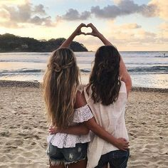 friends, beach, and bff image