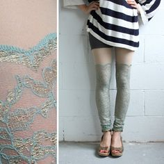 Lace Leggings  Seafoam Lace  Psych Out Faux by iheartnorwegianwood, $69.00