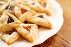 These little fruit-filled cookies are traditional for the Jewish holiday Purim where they are put in gift baskets and given to all one's friends.