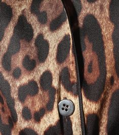 Leopard-Print Stretch-Silk Satin Top - Dolce & Gabbana | Mytheresa Satin Top, Silk Satin, Leopard Jacket, Leopard Print Top, Funny Halloween Costumes, Mother Of Pearl Buttons, Beige, Tops, Leopard Blazer
