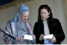 Queen Margaretha of Denmark and Princess Mary