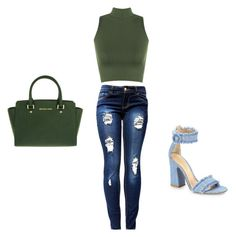"""""""Untitled #1"""" by joselynromero05 on Polyvore featuring WearAll, MICHAEL Michael Kors and Gianvito Rossi"""