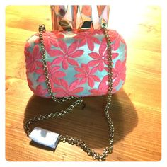 """KOTUR Clutch KOTUR Clutch. Length 5.5"""" Width 2"""" Height 4.5"""" Handle Drop 12"""". Outside has wear on flowers - dirty in spots & fuzz balls in other places. Kotur Bags Clutches & Wristlets"""