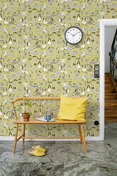 """This pattern is inspired by the songbook """"Våra visor"""". A playful but not childish pattern, rich in details with carefully-blended shades. #trestintas #trestintasbarcelona #wallpaper #wallcovering #interiordesign #sandbergwallpaper #signatur"""