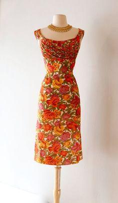 f8ab6e2399f3 Image result for 50s dress with strings detail Vintage 1950s Dresses,  Vintage Outfits, Vintage