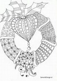 Image result for Folk Art Christmas Doodle Coloring Sheets