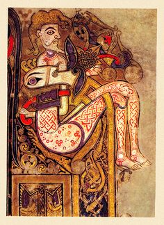 The Book of Kells (sometimes known as the Book of Columba), folio 130R (detail), ca. 800 or slightly earlier. Dublin, Trinity College Library.