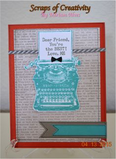 CTMH April 2015 Stamp of the Month and Heartstrings paper packet