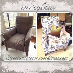 DIY Reupholstery Sneak Peek « Streetwise Decor