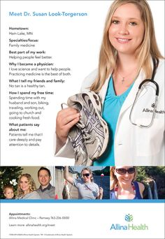 Meet Dr. Susan Look-Torgerson. She is a family medicine doctor who sees patients at the Allina Health Ramsey Clinic.