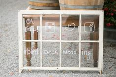 Ways To Use Old Windows At Wedding
