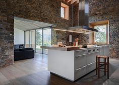 Rebuilding and Extension / Can Calau - From a listed farmhouse in a ruinous estate, located in the Natural Park of the Volcanic Zone in the . House Extensions, Kitchen Dining, Dining Room, Farmhouse, Rustic, Canning, Contemporary, Interior Design, Architecture