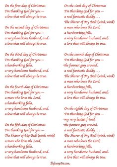 The 12 Days of Christmas {love notes for your spouse)