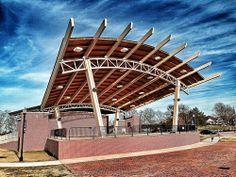 Lady Antebellum Amphitheater Evans GA  www.firstchoicehomebuilders.com Outdoor Stage, Outdoor Theater, Cole Park, Open Air Theater, Steel Trusses, Landscape Architecture, Landscape Designs, Gate Design, House Design