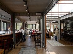 Smoky Park Supper Club is made out of shipping containers || Asheville NC || Form & Function Architecture