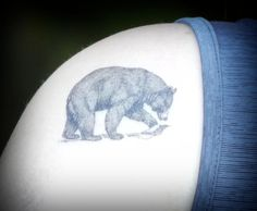 Temporary Tattoo Bear Tattoo Black Bear by SymbolicImports