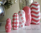 "OH my gosh, I love this idea! :) Russian ""Matroshka"" Stacking Dolls-plain, but decorated in whatever style you like!"
