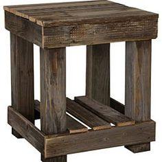 Barnwood End Table