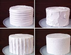 How to Create Four Different Textured Buttercream Finishes on a Cake
