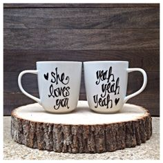 Items similar to Best Day Ever Wedding Date Wedding, Bridal Shower, Engagement, Christmas, Housewarming Gift Set of Two Mugs on Etsy Wedding Mugs, Moon Wedding, Wedding Stuff, Wedding Ideas, Wedding Gifts, Beatles Lyrics, The Beatles, Beatles Party, Christmas Gift Sets