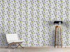 Design #Tapete Gänseblümchen Grau