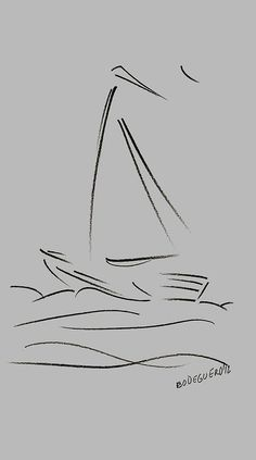 sailing in the storm simple drawings - Google Search