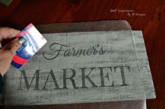 how i made a fake distressed sign out of a flap from a cardboard box, crafts, how to, repurposing upcycling