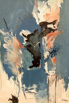 Helen Frakenthaler,Sea Picture with Black (1959)oil on canvas 84.5 x 57 in. | Favorite Artists | Pinterest