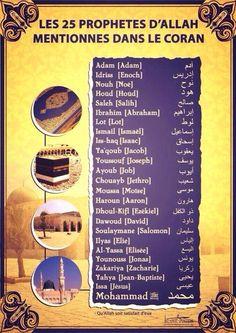 Les 25 prophètes => Coran vs Bible