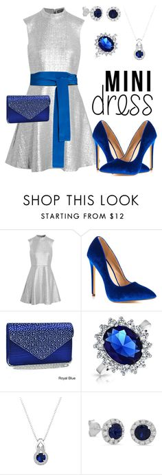 """""""Silver Mini Dress"""" by whatbigeyes ❤ liked on Polyvore featuring Markus Lupfer, Liliana, Dasein, Bling Jewelry, Amanda Rose Collection and Diane Von Furstenberg"""