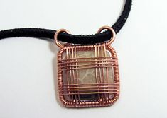Image result for how to wire wrap a square stone