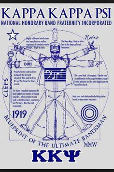 Anatomy of a Brother Kappa Kappa Psi Kappa Kappa Psi, Greek Life, Fraternity, Music Notes, Sorority, Band, Paddles, Junk Drawer, Tbs