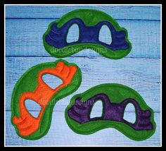 Green Turtle Play Masks by DipsyDoodlebug on Etsy, $10.00
