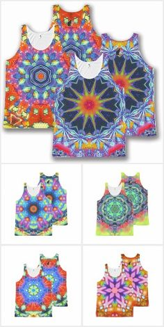 KC Kaleidoscope All Over Print Tank Tops COLLECTION. Featuring Kinetic Collage kaleidoscope compositions created from psychedelic light show screen images. Totally new, totally now! Uniquely authentic wear-able art made just for you.  Perfect for rave & festival vibes or yoga and meditation. Over 3000 products at my Zazzle online store. Open 24/7  World wide! Custom one-of-a-kind items shipped to your door. These designs are only @ http://www.zazzle.com/greg_lloyd_arts*?rf=238198296477835081