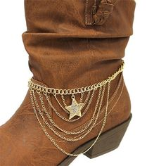 Cowgirl Boot Charm | ... Charm Western Cowgirl Cowboy Boot Jewelry Anklet Charm Strap | eBay