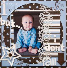 Sitting Up scrapbooking # layout by casandra Baby Scrapbook Pages, Baby Boy Scrapbook, Scrapbook Cards, Scrapbook Photos, Vintage Scrapbook, Scrapbook Layout Sketches, Scrapbooking Layouts, Sitting Up Baby, Baby Album