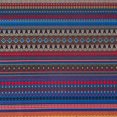 Multi Color Traditional European Stretch Cotton Woven