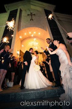 wedding, sparklers