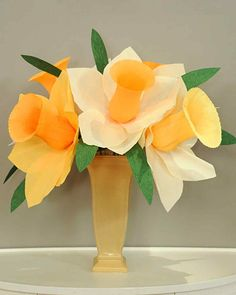 Bring lovely daffodils into your home this season, no changing of the water required, with this crepe paper craft from TV crafter Morgan Levine.