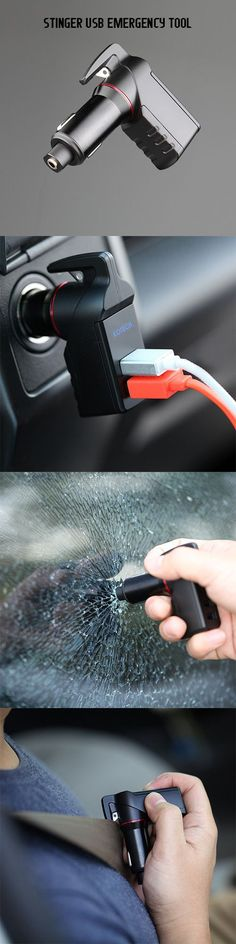 Cool gadget ever! STINGER USB EMERGENCY TOOL useful gadget car accessories tech gadget #caraccessories