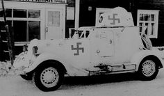 Captured Soviet armored car BA-20M in service in the Finnish army. Identification is very similar to the Finnish Air Force markings. Pin by Paolo Marzioli